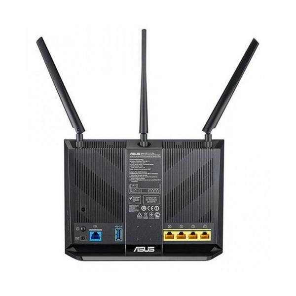ASUS DSL-AC68U Dual-band (2.4 GHz/5 GHz) Gigabit Ethernet 3G Nero router wireless