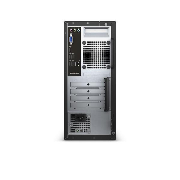 DELL Vostro 3668 3GHz i5-7400 Mini Tower Nero, Rosso PC