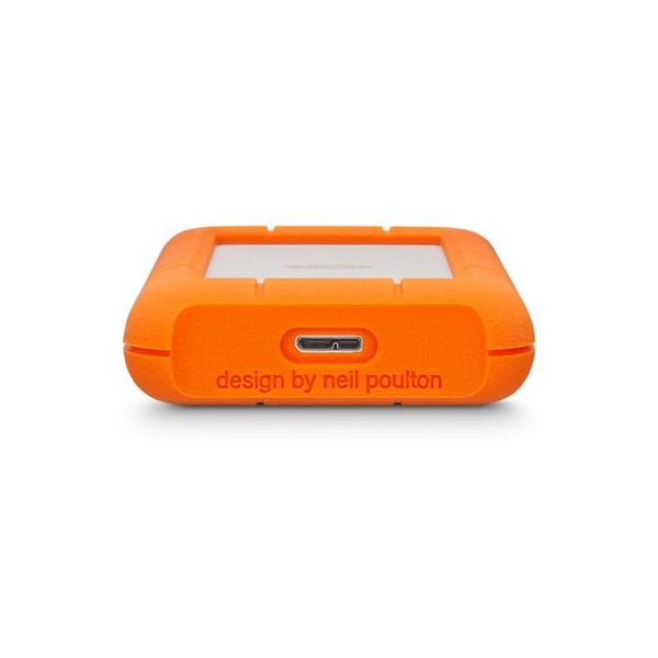 LaCie Rugged Mini 1000GB Arancione, Argento disco rigido esterno