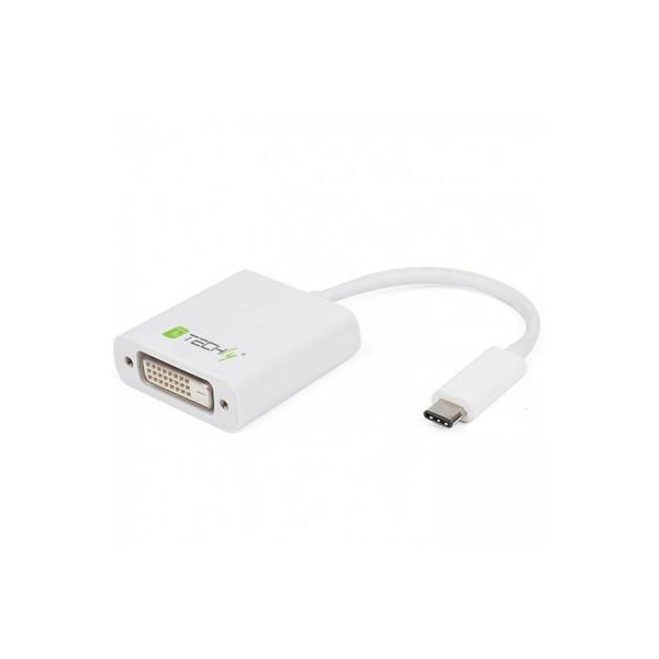 Techly Cavo Convertitore Adattatore da USB-C M a DVI F (IADAP USB31-DVI)