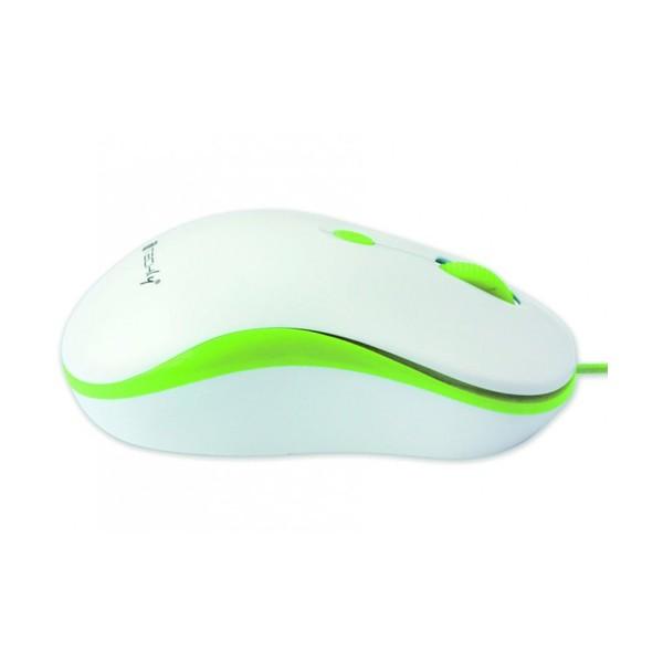Techly Mouse Ottico USB 800-1600 dpi Bianco/Verde (IM 1600-WT-WG)