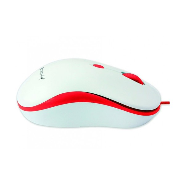 Techly Mouse Ottico USB 800-1600 dpi Bianco/Rosso (IM 1600-WT-WR)