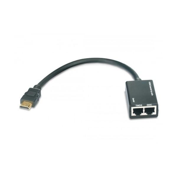 Techly Amplificatore HDMI Cat 5e/6 Compatto 30m (IDATA EXT-E30D)