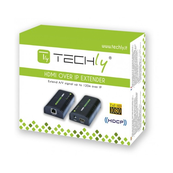 Techly Ricevitore aggiuntivo per Amplificatore/Splitter HDMI Over IP (IDATA EXTIP-373R)