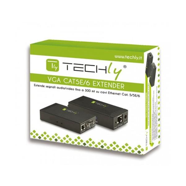 Techly Amplificatore Extender VGA e Audio su Cavo di Rete (IDATA EX-DL344)
