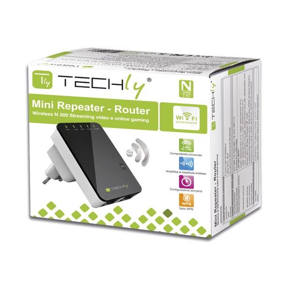 Techly Ripetitore Router Wireless 300N da Muro Repeater2 (I-WL-REPEATER2)